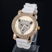 Klocka vit leopard, Shine watch