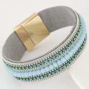 Armband Crystal beads blue, Lemoer