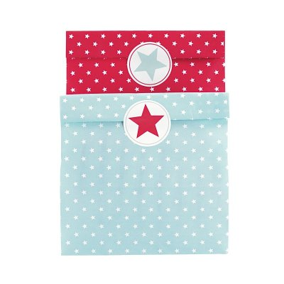 Giftbag Star Mix w stickers, GreenGate